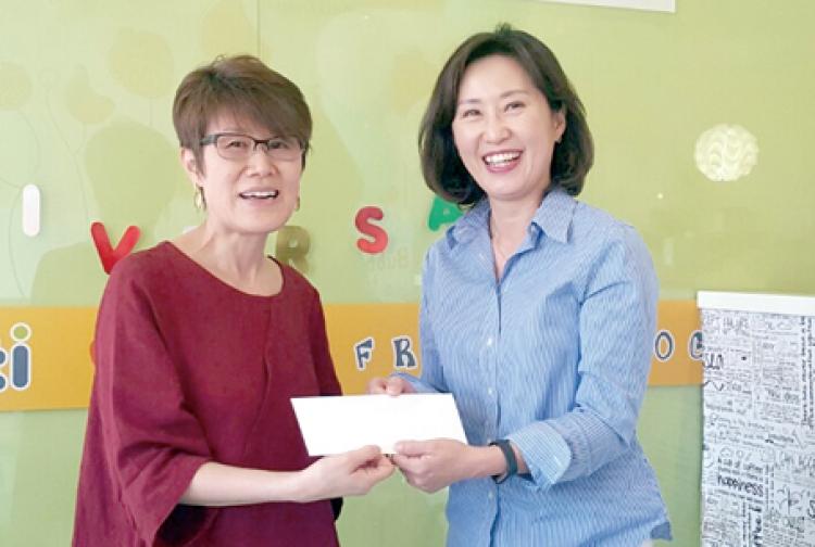 GCF VA지부, 2.20클럽에 성금 1천달러 전달